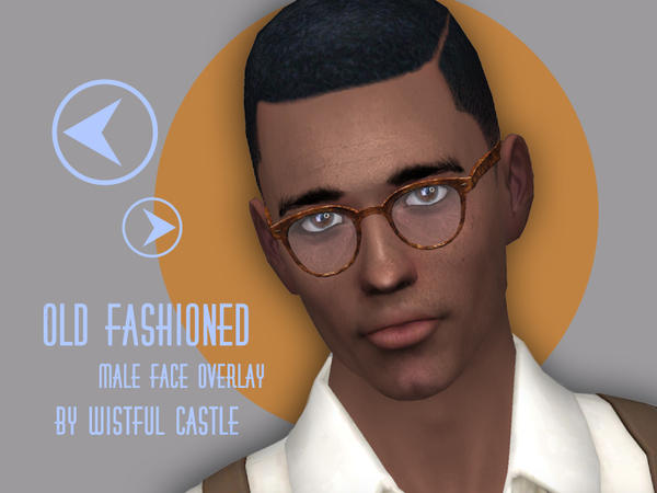 Old fashioned face overlay by WistfulCastle at TSR image 1930 Sims 4 Updates