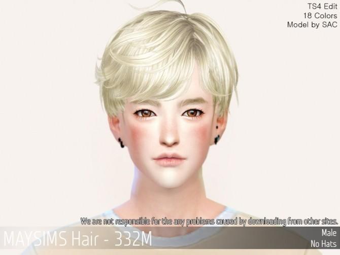 Sims 4 Hair 332F at May Sims