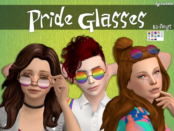 Pride Glasses at Tukete image 1962 670x504 Sims 4 Updates