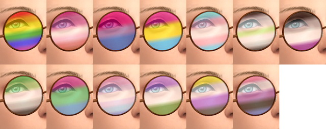 Sims 4 Pride Glasses at Tukete