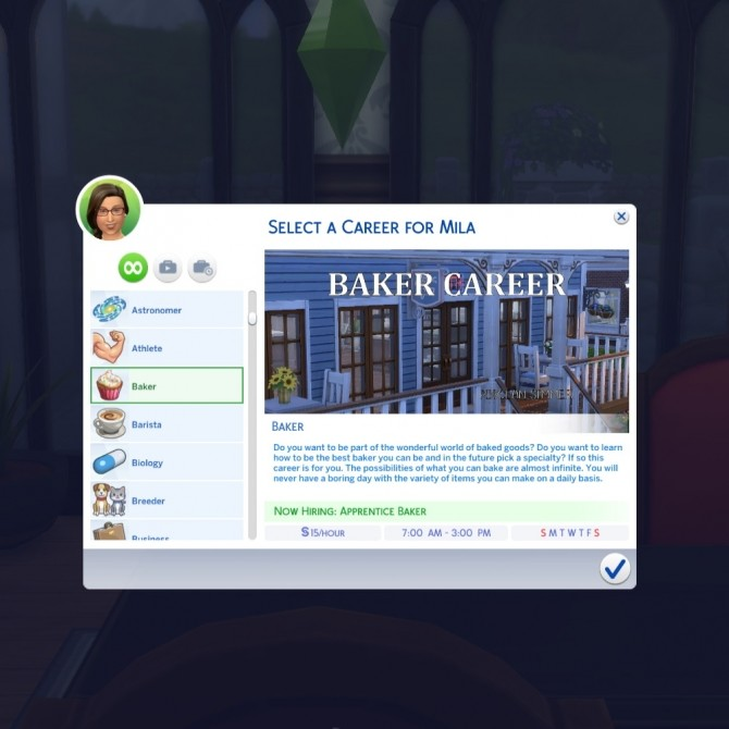 Baker Career by Piscean6 at Mod The Sims image 2001 670x670 Sims 4 Updates