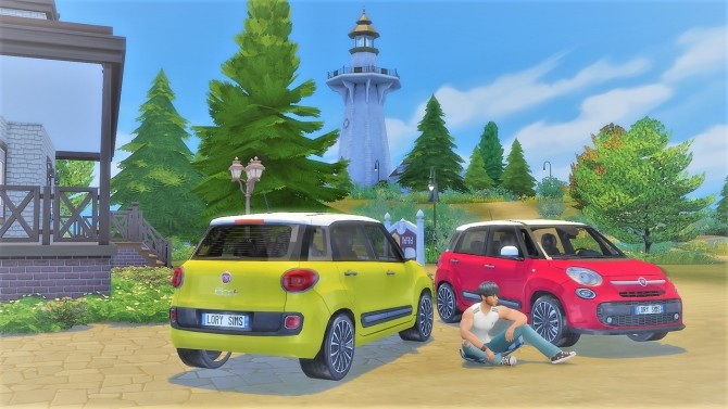 Fiat 500L at LorySims image 2005 670x377 Sims 4 Updates