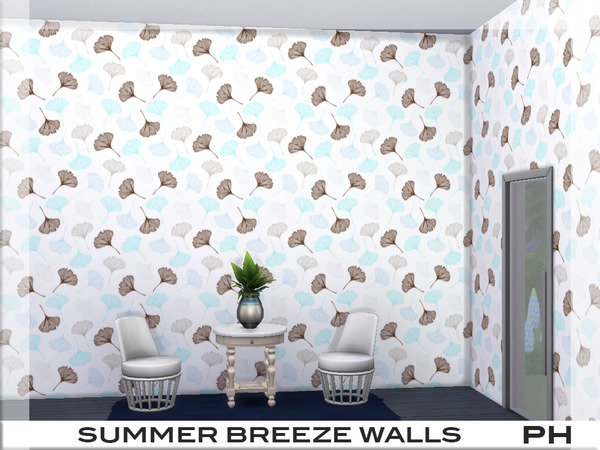 Summer Breeze Walls 1 by Pinkfizzzzz at TSR image 2024 Sims 4 Updates