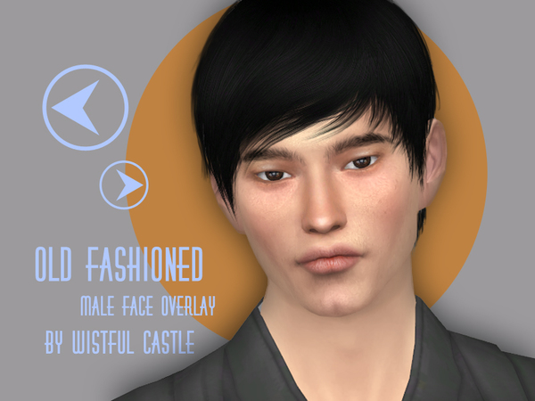 Old fashioned face overlay by WistfulCastle at TSR image 2030 Sims 4 Updates