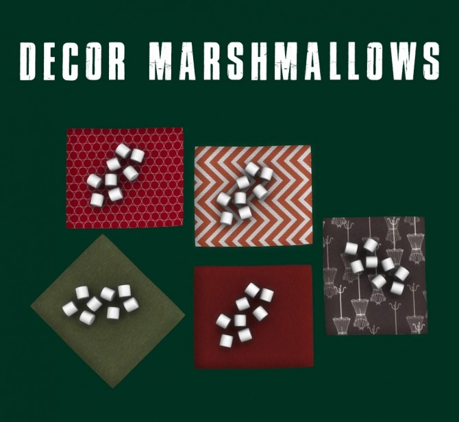 Decor Marshmallows at Leo Sims image 204 670x616 Sims 4 Updates