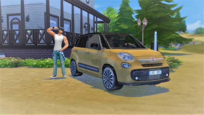 Fiat 500L at LorySims image 2045 670x377 Sims 4 Updates