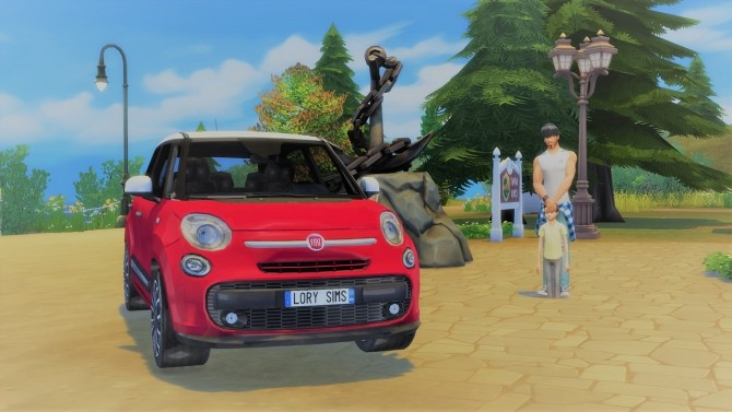 Fiat 500L at LorySims image 2065 670x377 Sims 4 Updates