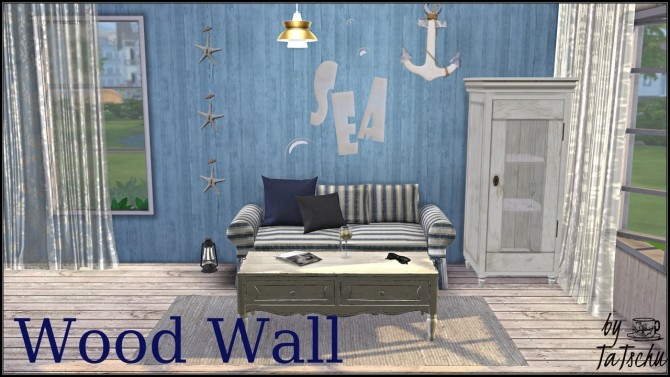 Sims 4 Wood wall at TaTschu`s Sims4 CC