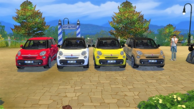 Fiat 500L at LorySims image 2075 670x377 Sims 4 Updates