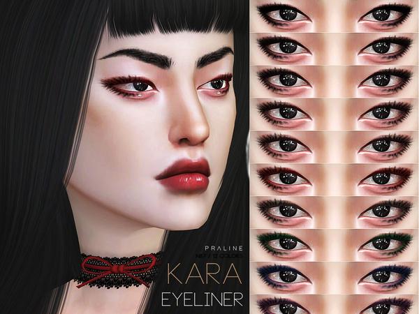 Kara Eyeliner N87 by Pralinesims at TSR image 2112 Sims 4 Updates