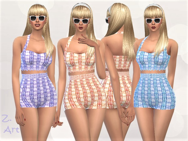 Sims 4 RetroZ 06 swimsuit by Zuckerschnute20 at TSR