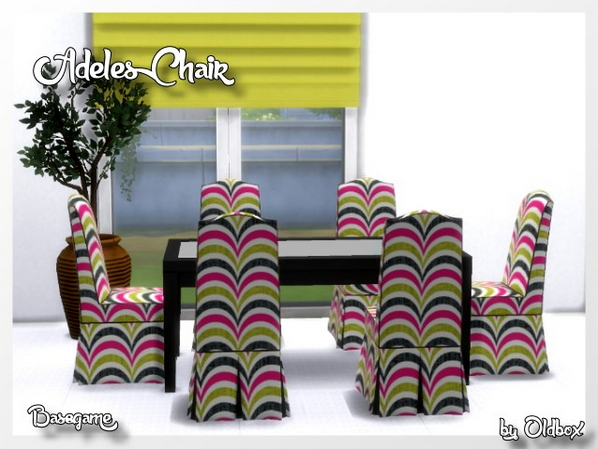 Sims 4 Adeles Chair by Oldbox at All 4 Sims