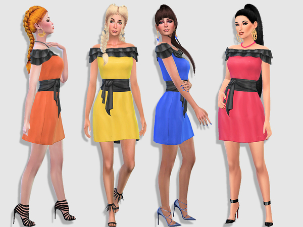 Delphine dress by Simalicious at TSR image 213 Sims 4 Updates
