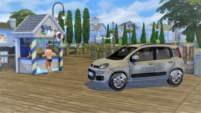 Fiat Panda at LorySims image 2144 670x377 Sims 4 Updates