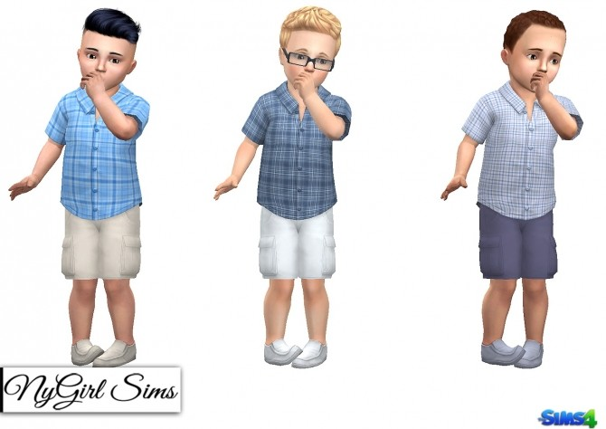 Sims 4 3 Piece Summer Outfit Toddler Boy at NyGirl Sims