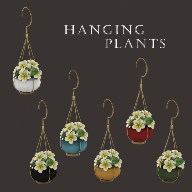 Sims 4 Hanging plants at Leo Sims