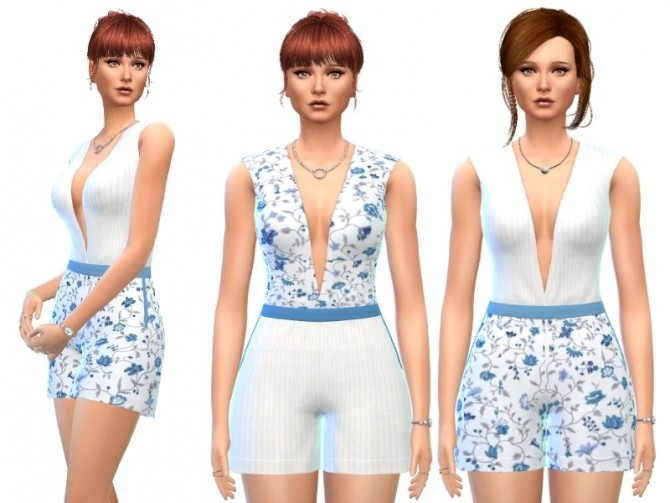 Sims 4 Summer Overall at Louisa Creations4Sims