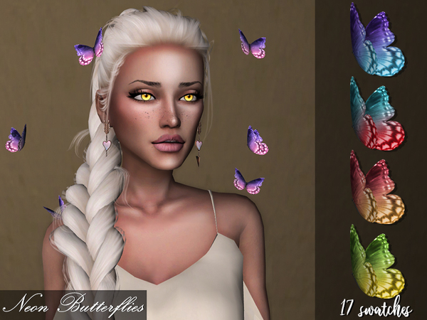 Sims 4 Neon Butterflies by Genius666 at TSR