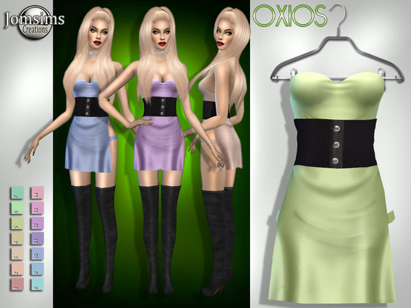 Sims 4 Oxios dress by jomsims at TSR