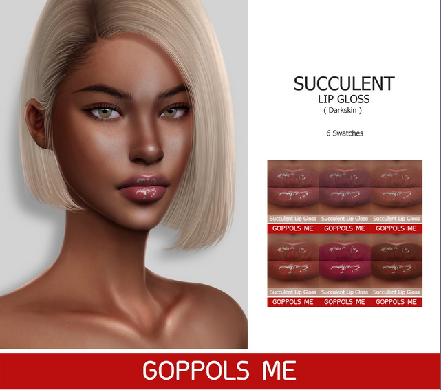 Succulent Lip Gloss (Darkskin) at GOPPOLS Me image 2342 Sims 4 Updates
