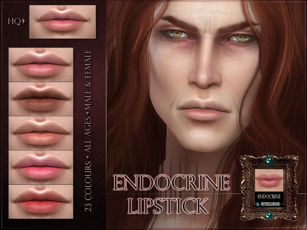 Sims 4 Endocrine Lipstick by RemusSirion at TSR