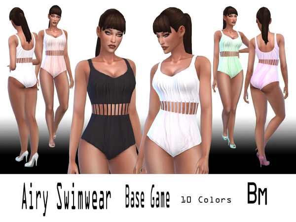 Sims 4 Airy Swimwear by Bree miles at TSR