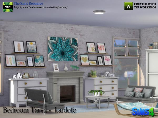 Sims 4 Bedroom Tarva by kardofe at TSR