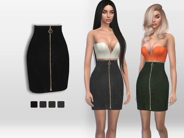 Ribbed Skirt by Puresim at TSR image 2517 Sims 4 Updates
