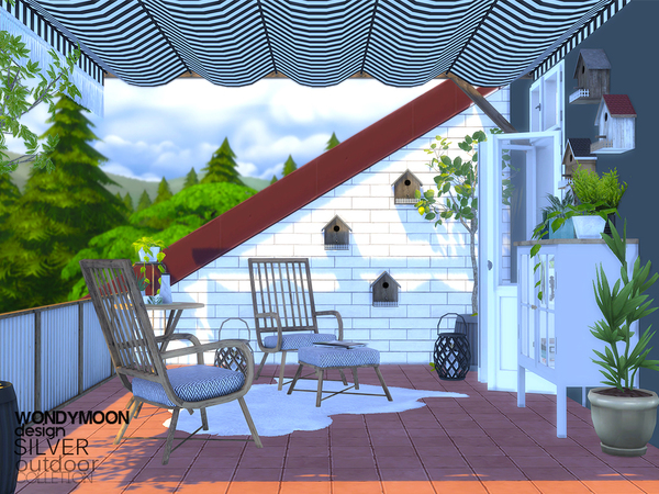 Silver Outdoor by wondymoon at TSR image 2521 Sims 4 Updates