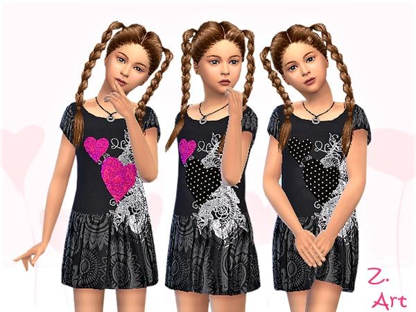 Sims 4 GirlZ 14 casual shirt dress by Zuckerschnute20 at TSR