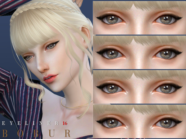 Sims 4 Eyeliner 16 by Bobur3 at TSR