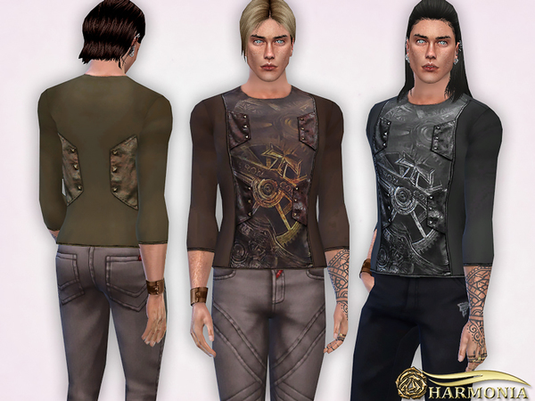 Steampunk Gear Printing Tops by Harmonia at TSR image 259 Sims 4 Updates