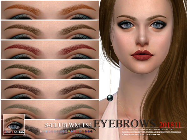 Eyebrows 201811 by S Club WM at TSR image 2591 Sims 4 Updates