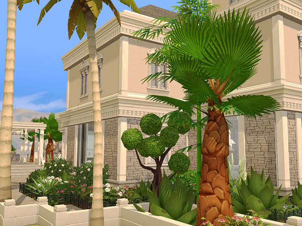 Mediterranean Luxury Estate by pinoe at TSR image 260 Sims 4 Updates