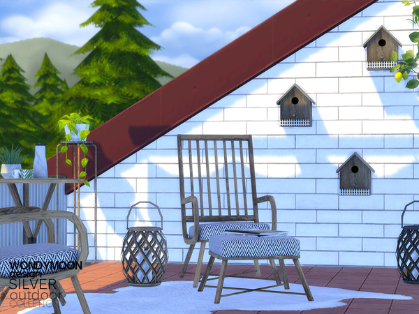 Silver Outdoor by wondymoon at TSR image 2621 Sims 4 Updates