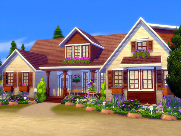 Sims 4 Huntington Ridge house by sharon337 at TSR