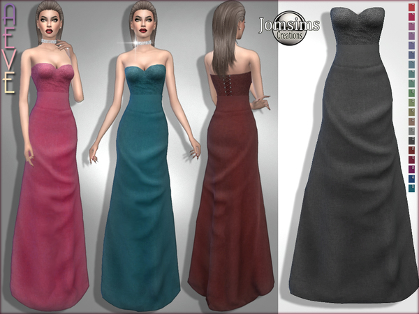 Aeve dress by jomsims at TSR image 269 Sims 4 Updates