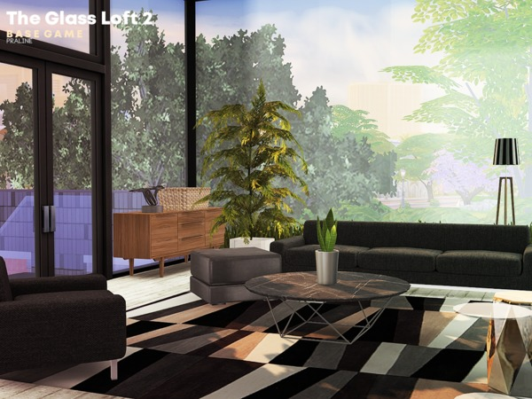 Sims 4 The Glass Loft 2 by Pralinesims at TSR