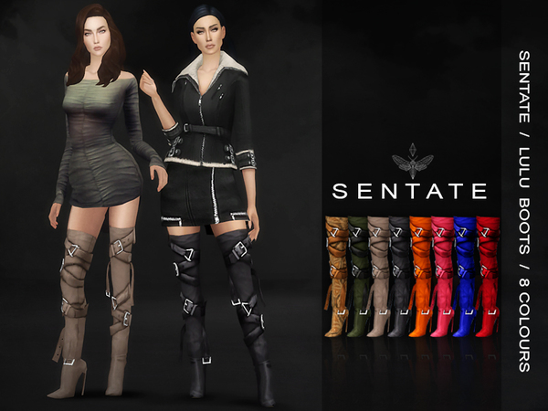 Lulu Boots by Sentate at TSR image 2720 Sims 4 Updates
