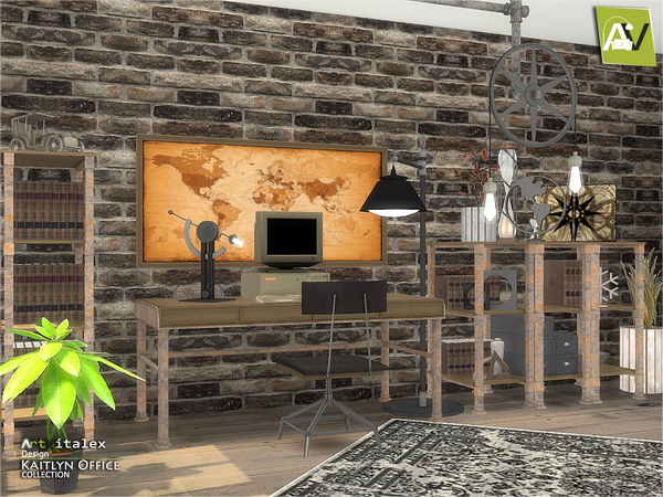 Kaitlyn Office by ArtVitalex at TSR image 281 Sims 4 Updates