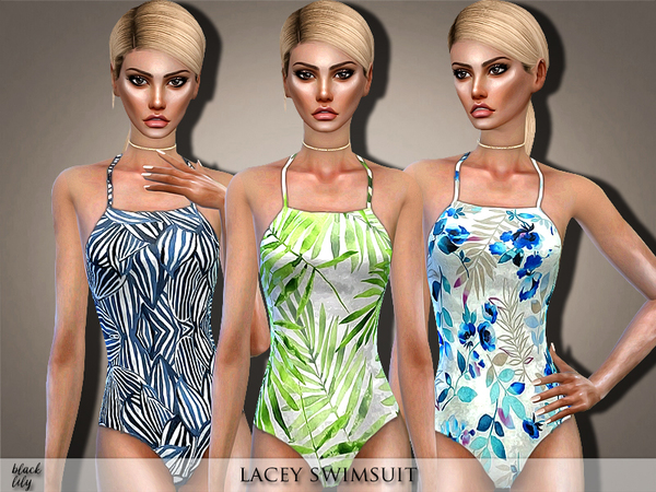 Lacey Swimsuit by Black Lily at TSR image 2810 Sims 4 Updates
