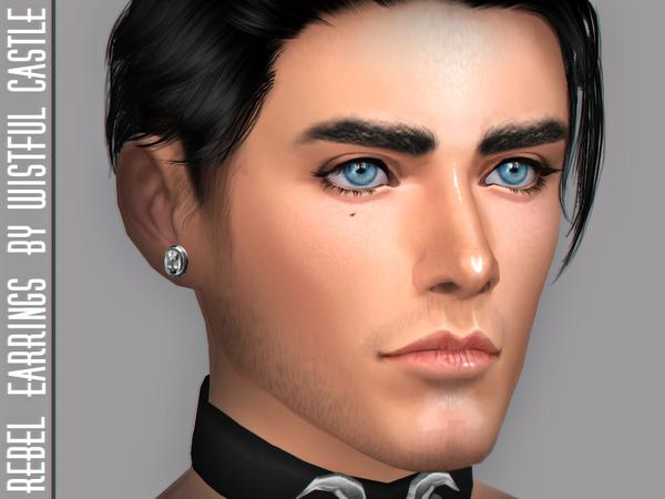 Rebel earrings by WistfulCastle at TSR image 2811 Sims 4 Updates