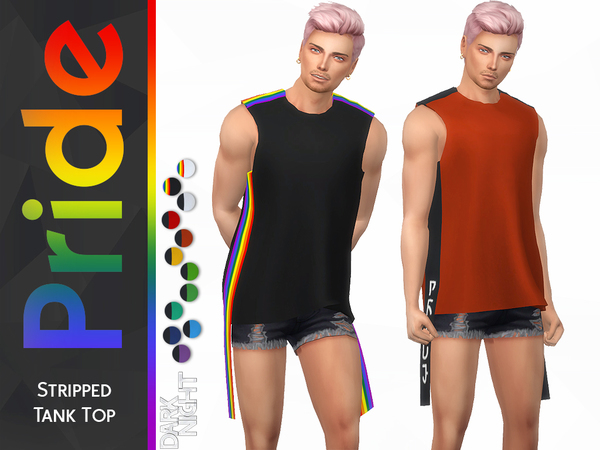 Pride Collection Stripped Tank Top by DarkNighTt at TSR image 287 Sims 4 Updates