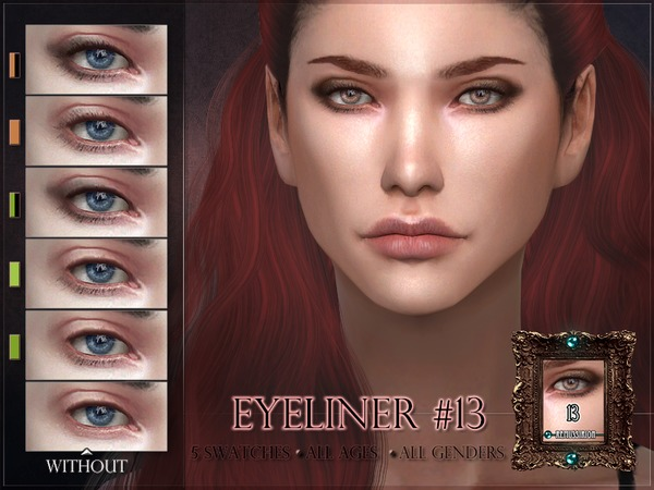 Eyeliner 13 subtle lashes by RemusSirion at TSR image 289 Sims 4 Updates