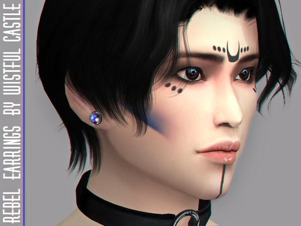 Rebel earrings by WistfulCastle at TSR image 2910 Sims 4 Updates