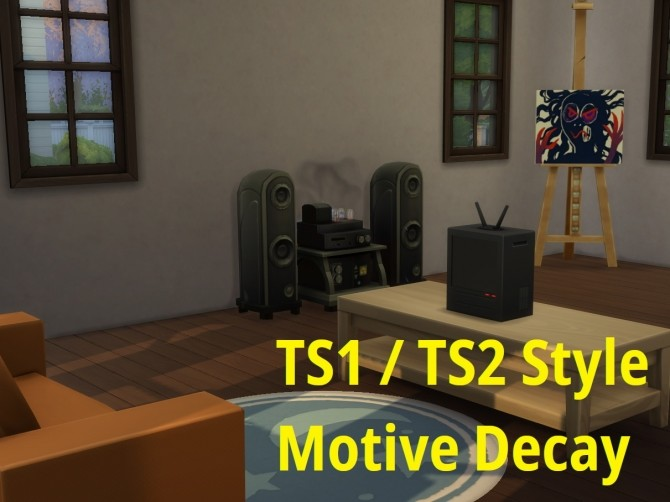Sims 4 Motive Decay Mod TS1 / TS2 style need decay by paessi at Mod The Sims