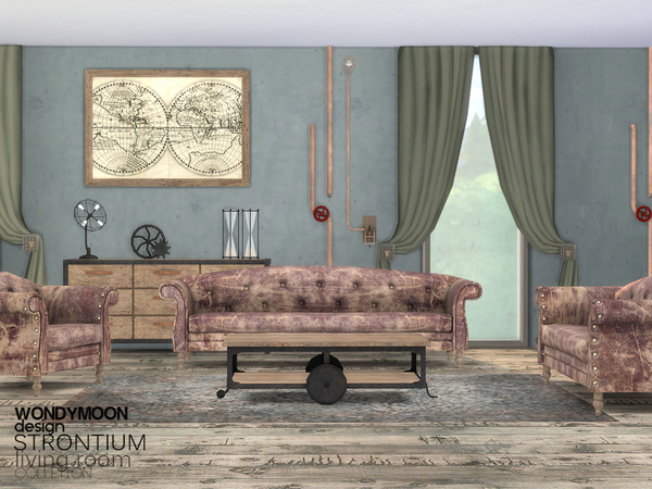 Strontium Living Room by wondymoon at TSR image 295 Sims 4 Updates