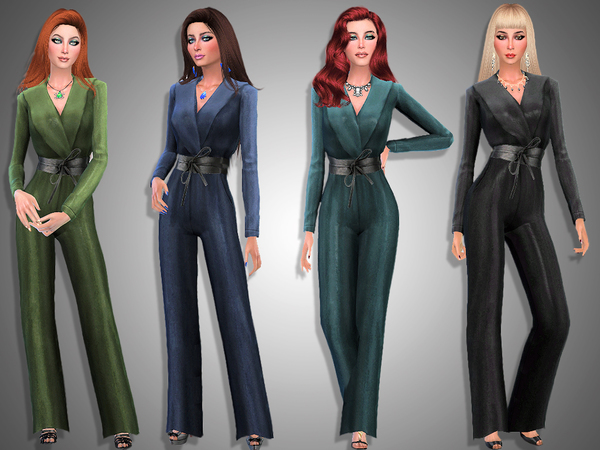 Sims 4 Fortuna jumpsuit by Simalicious at TSR