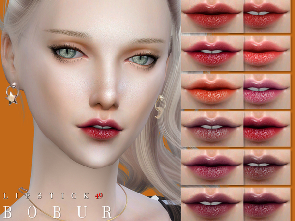 Sims 4 Lipstick 49 by Bobur3 at TSR
