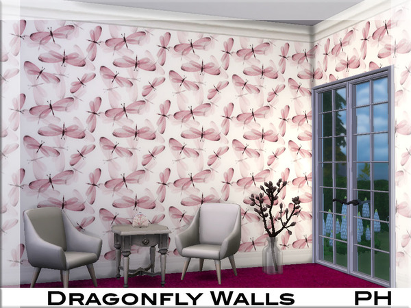 Dragonfly Walls by Pinkfizzzzz at TSR image 3011 Sims 4 Updates